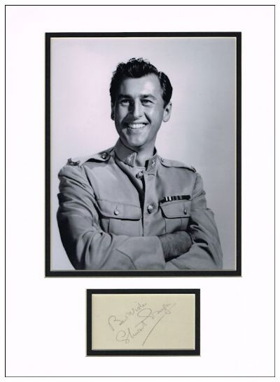 Stewart Granger Autograph Signed Display